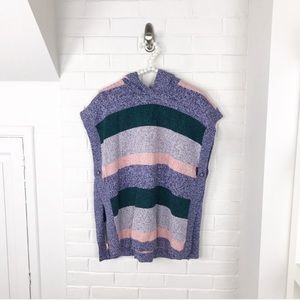 {Tea Collection} Striped Girls Knit Poncho